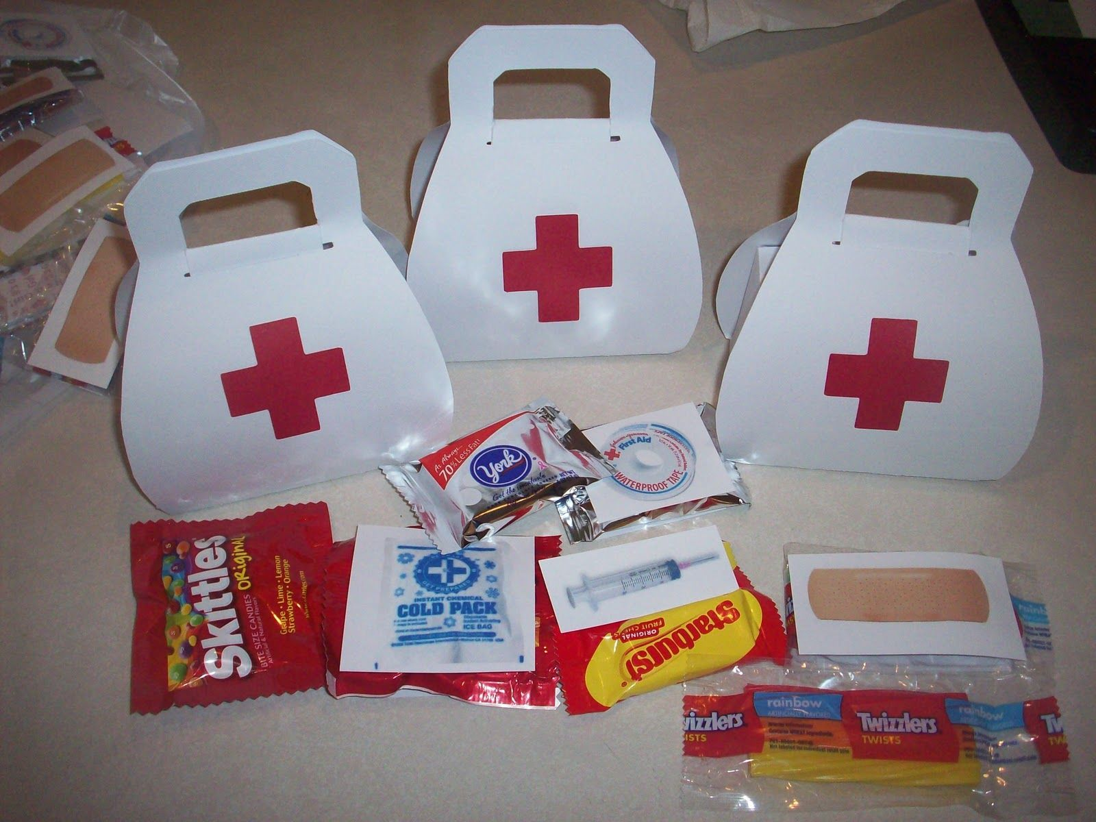 First Aid Kit Goodie Bags Food Pinterest Medical Bag Favors