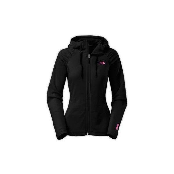 The North Face Women's Pink Ribbon Mezzaluna Hoodie Sweatshirt ($70) ❤ liked on Polyvore featuring tops, hoodies, sweatshirts, black, black hooded sweatshirt, pink hoodie, sweatshirt hoodie, black hoodie and black sweat shirt