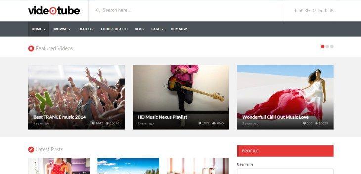 VideoTube - Responsive Video WordPress Theme | WordPress | Pinterest ...