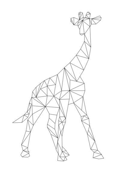 Giraf art print kid 39 s stuff dessin dessin origami - Dessin girafe simple ...