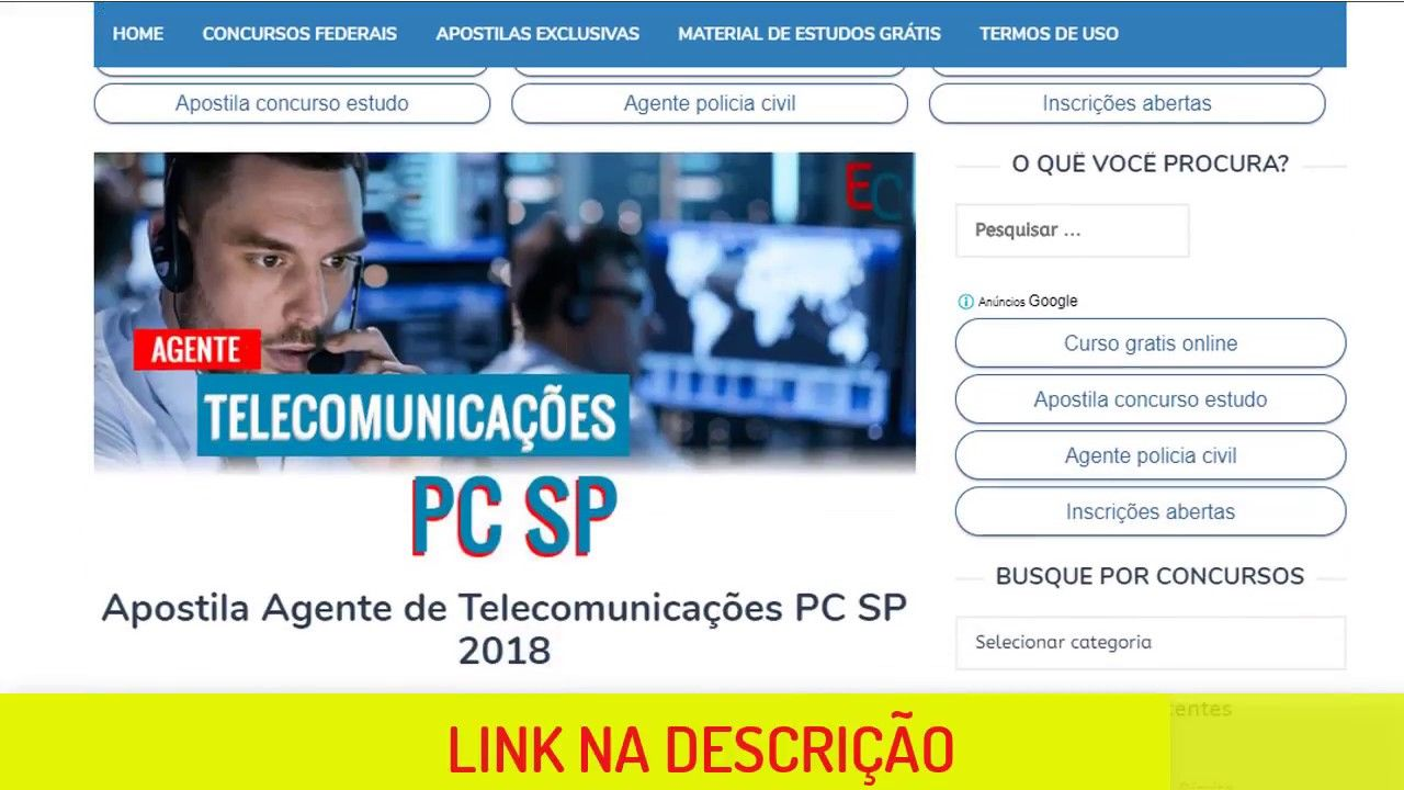 Apostila Agente De Telecomunicacoes Policia Civil 2018 Pdf