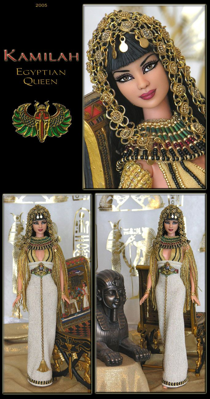 Egyptian Queen Kamilah Barbie Repaint Fashion Dolls