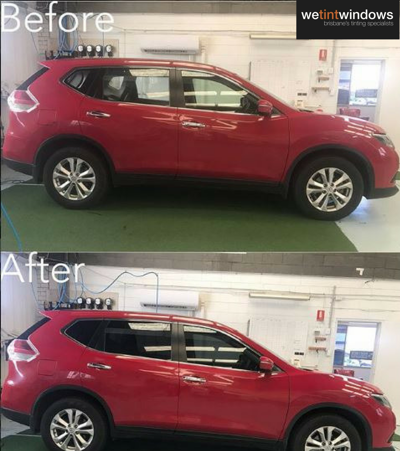 Car Window Tinting Black Tint Before And After Photos Tinted Windows Car Tinted Windows Car