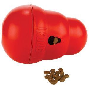 Kong Wobbler Dog Treat Dispenser And Feeding Toy Geared For Pet