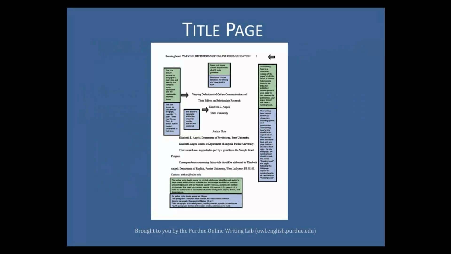 apa format in text citation