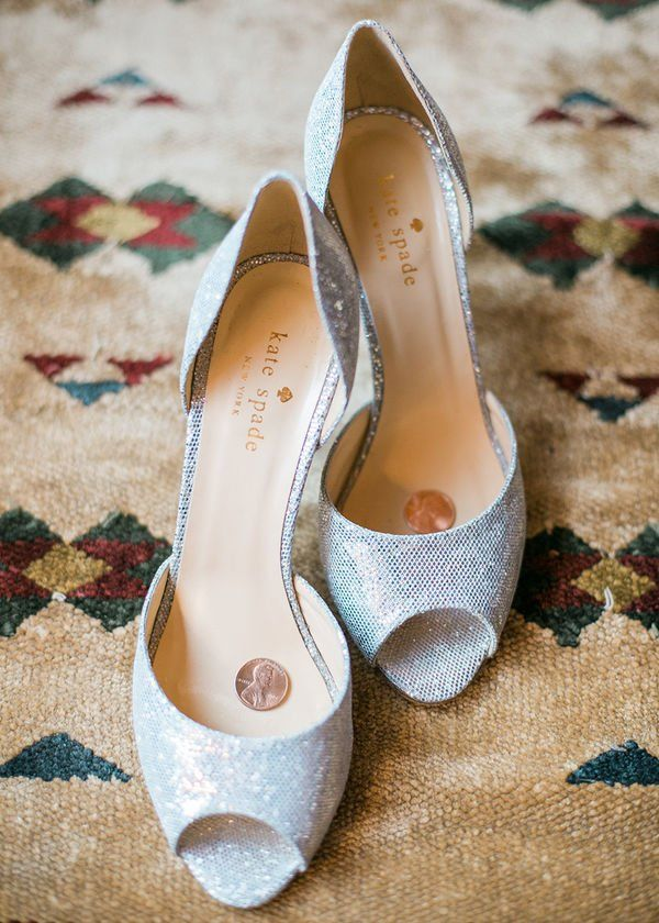 Claire and Tyler's Lakeside Colorado Wedding by Rachel Havel - mywedding |  Wedding shoes vintage, Bridal wedding shoes, Silver wedding shoes