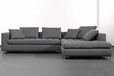 Designermöbel Hamburg ecksofa potenza grau 304x220cm sliwinski qubo wohndesign onlineshop