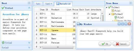 jQuery UI framework extension