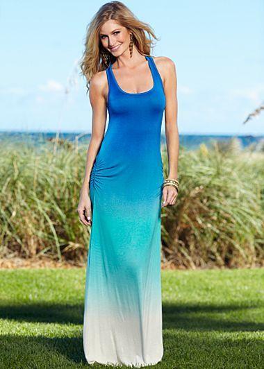 69a1fb4f36 Venus Blue Multi (BLMU) Tie Dye Maxi Ombre Dress  42