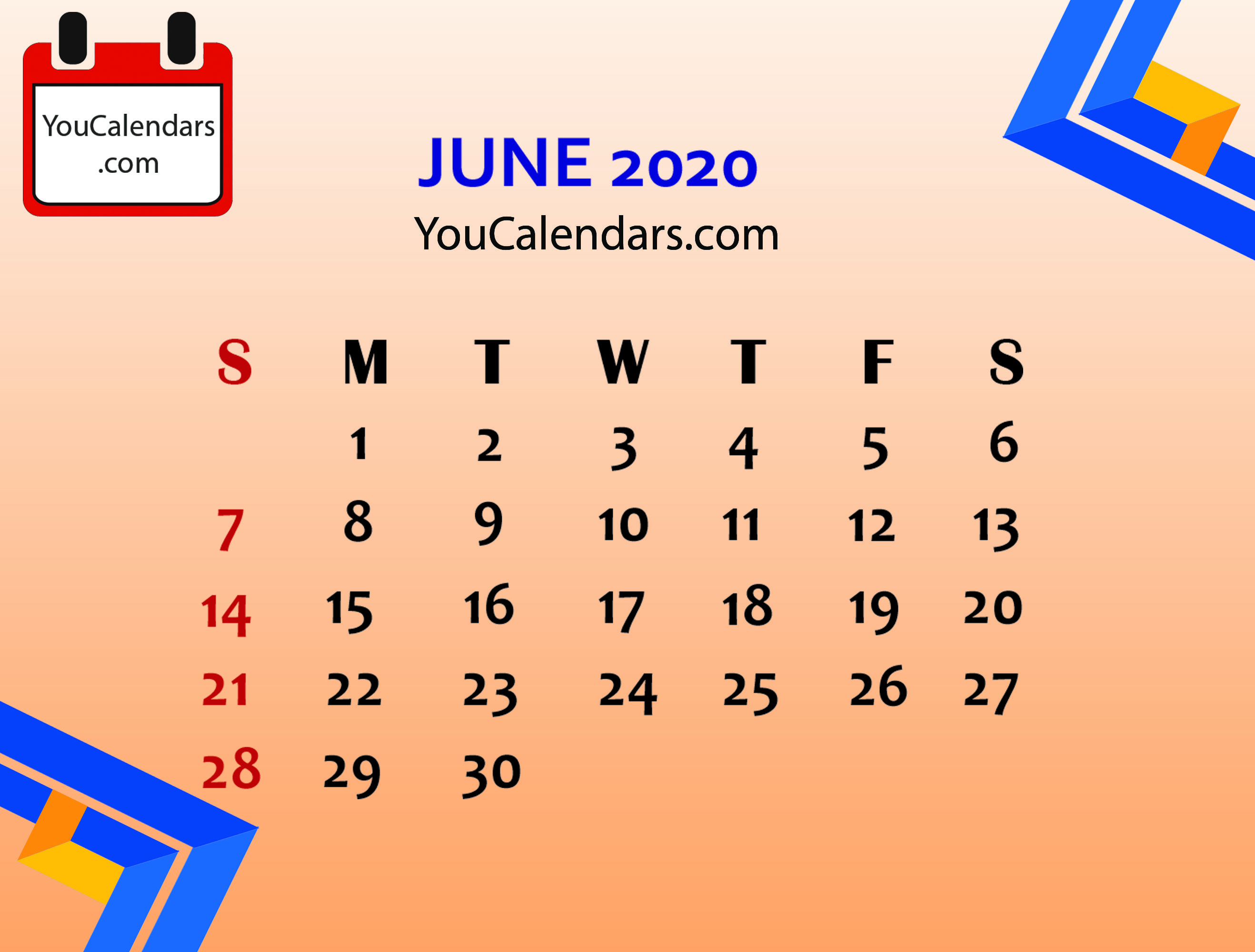 Free June 2020 Calendar Printable Template In 2020 With Images