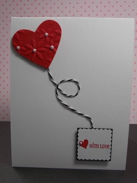 Diy valentine cards cute card with baker 39 s twine and for Cute homemade valentines day cards