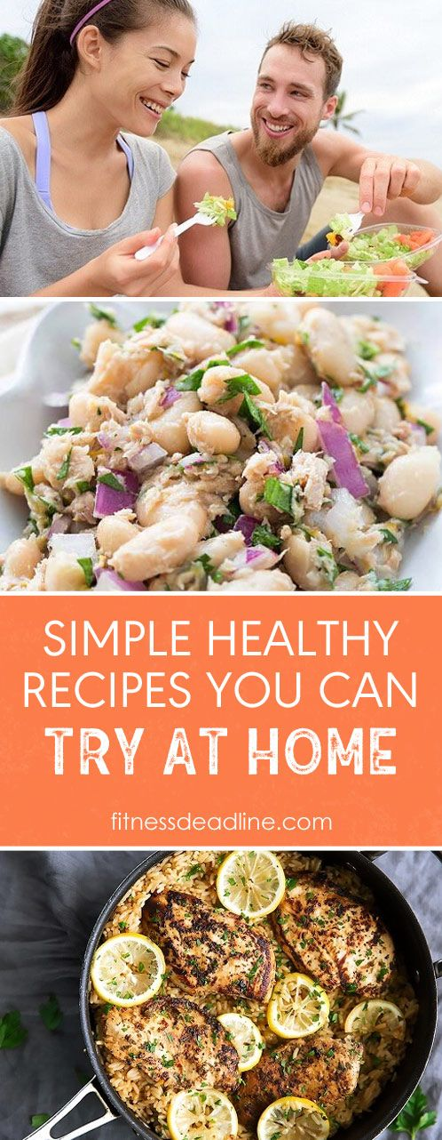 Simple Healthy Recipes You Can Try At Home. Healthy meal plans: Tuna And White Bean Crostini recipe, Taco Salad recipe, One Pot Lemon Herb Chicken & Rice recipe. Healthy eating made easy.