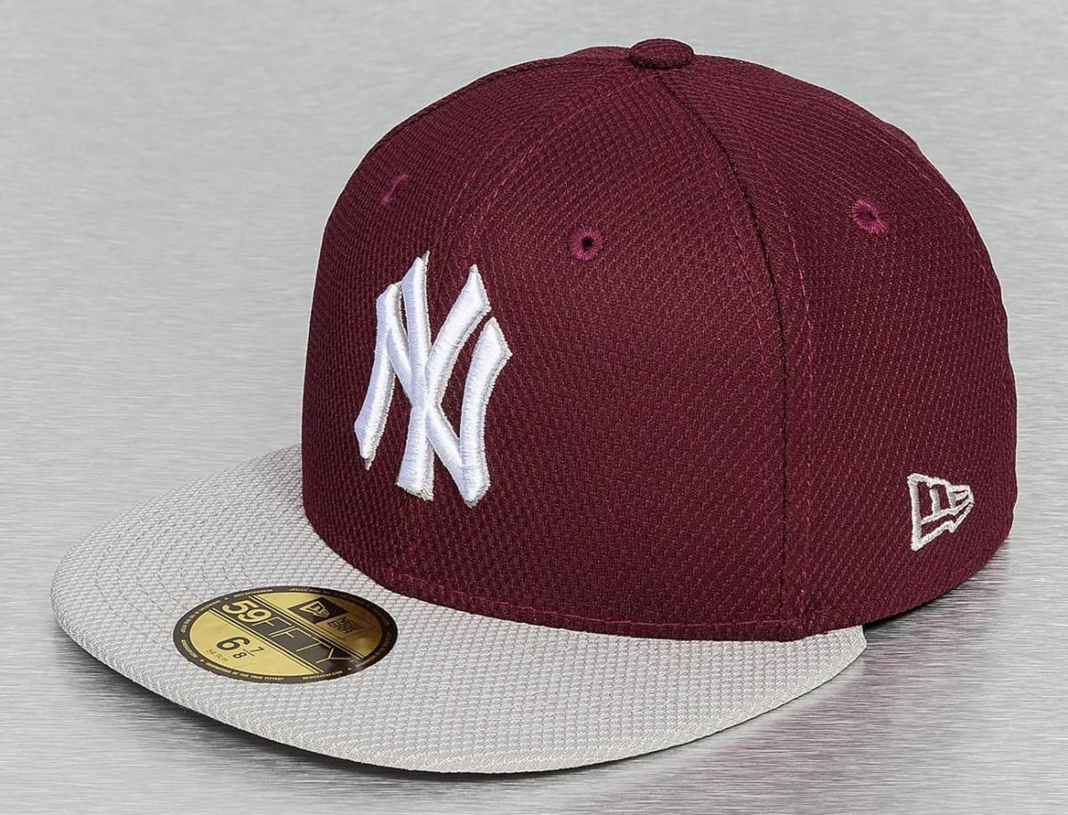 cd4af4dca1d Custom New York Yankees Maroon Diamond Era 59Fifty Fitted Baseball Cap by NEW  ERA x MLB