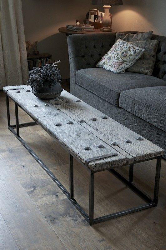 rechthoekig  metalenonderstel voor salontafel