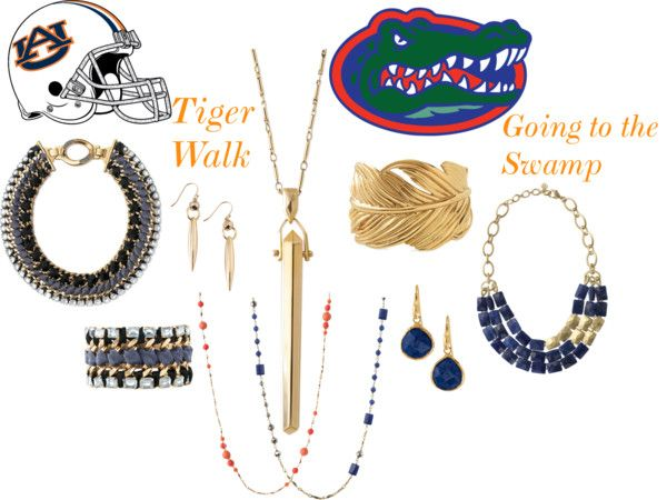 """""""Auburn and Florida Game Ready Style"""" by robin-willis on Polyvore"""