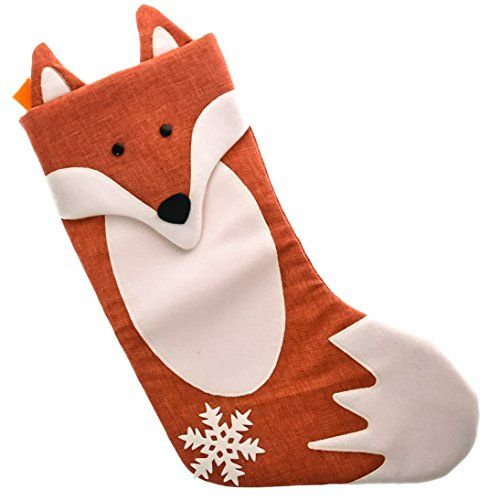Woodland Stocking Kids Stocking Christmas Fox Stocking Christmas Stocking Christmas Stocking Woodland Fox Stocking Blue Fox Stocking