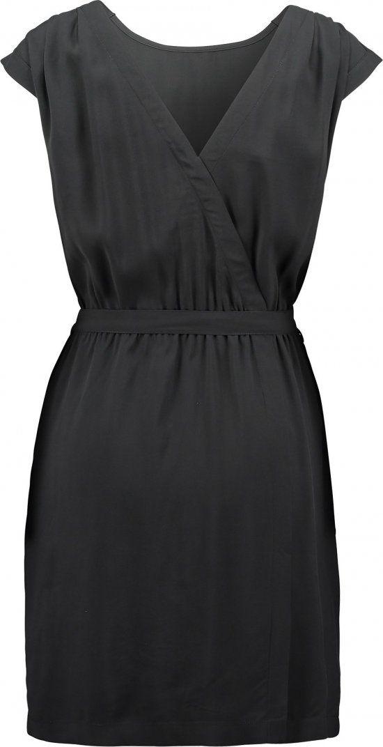 Kleid mit raffung am bauch