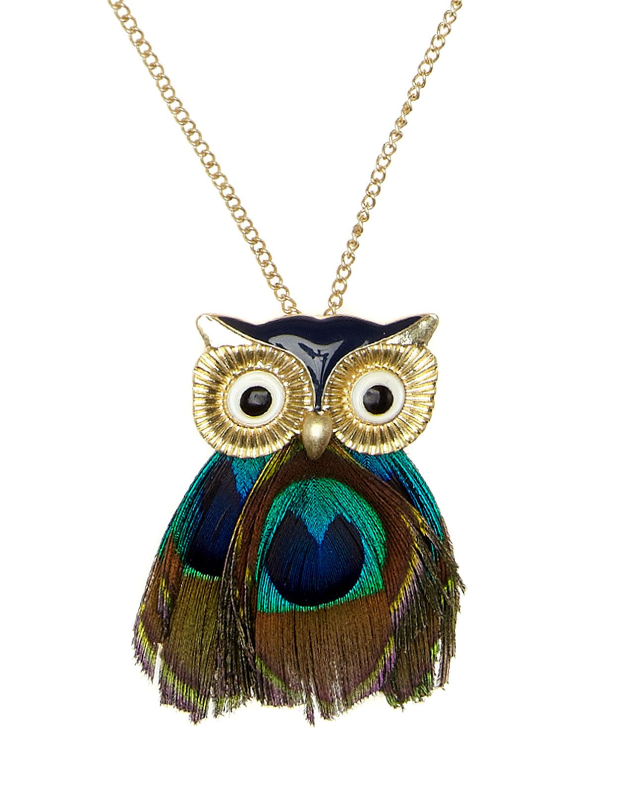 Denim Choker Owl Jewelry