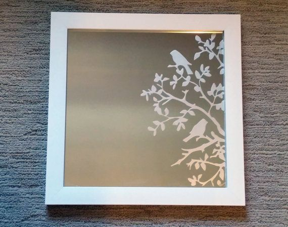 Etched Mirror - Birds In Trees