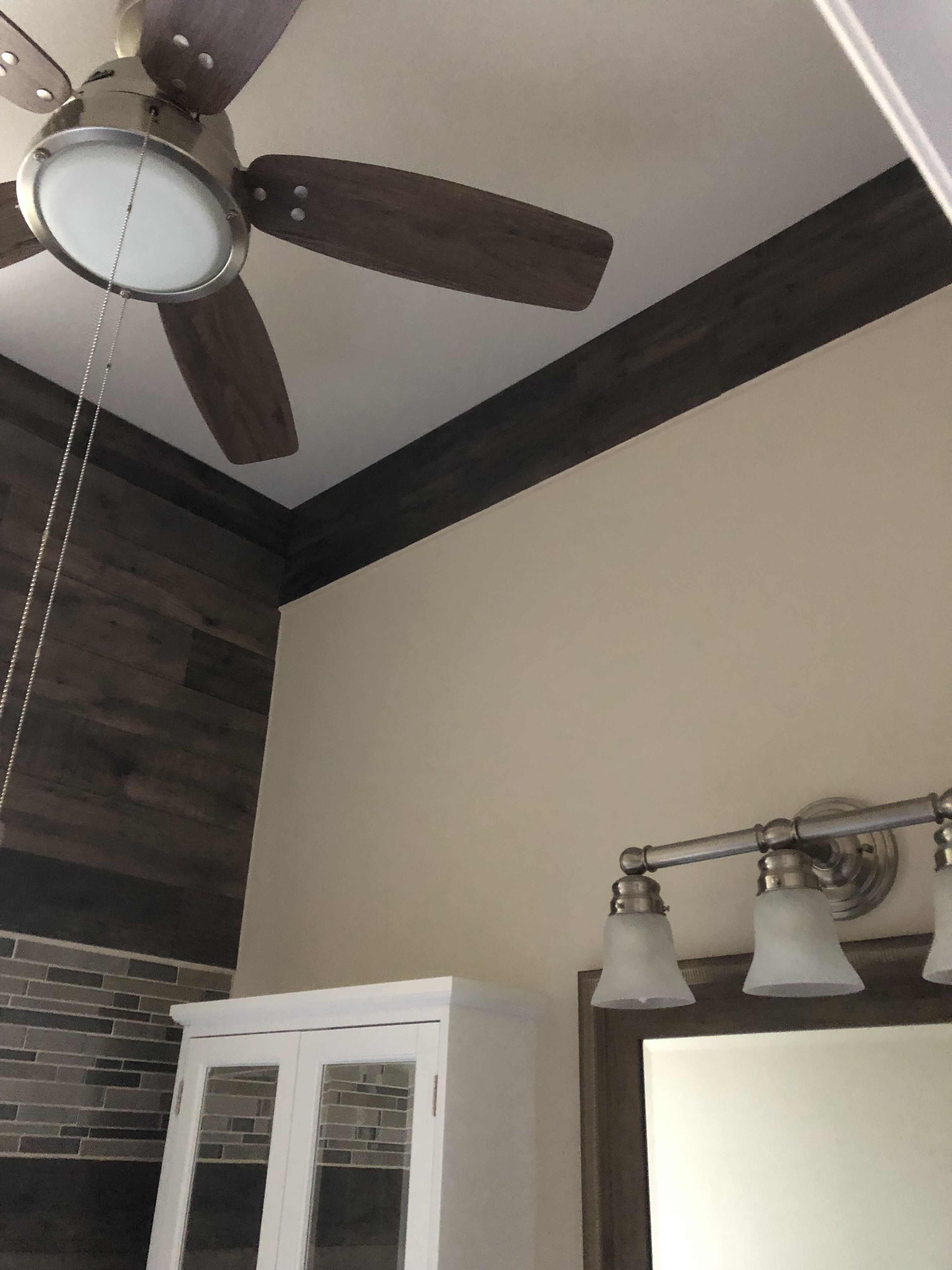 Yes We Have Fans In Both Our Bathrooms Bathroom Renovation Guest Bathroom Ceiling Lights