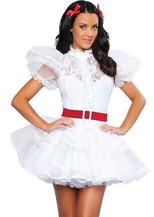 white outfit with petticoat - Halloween Petticoat