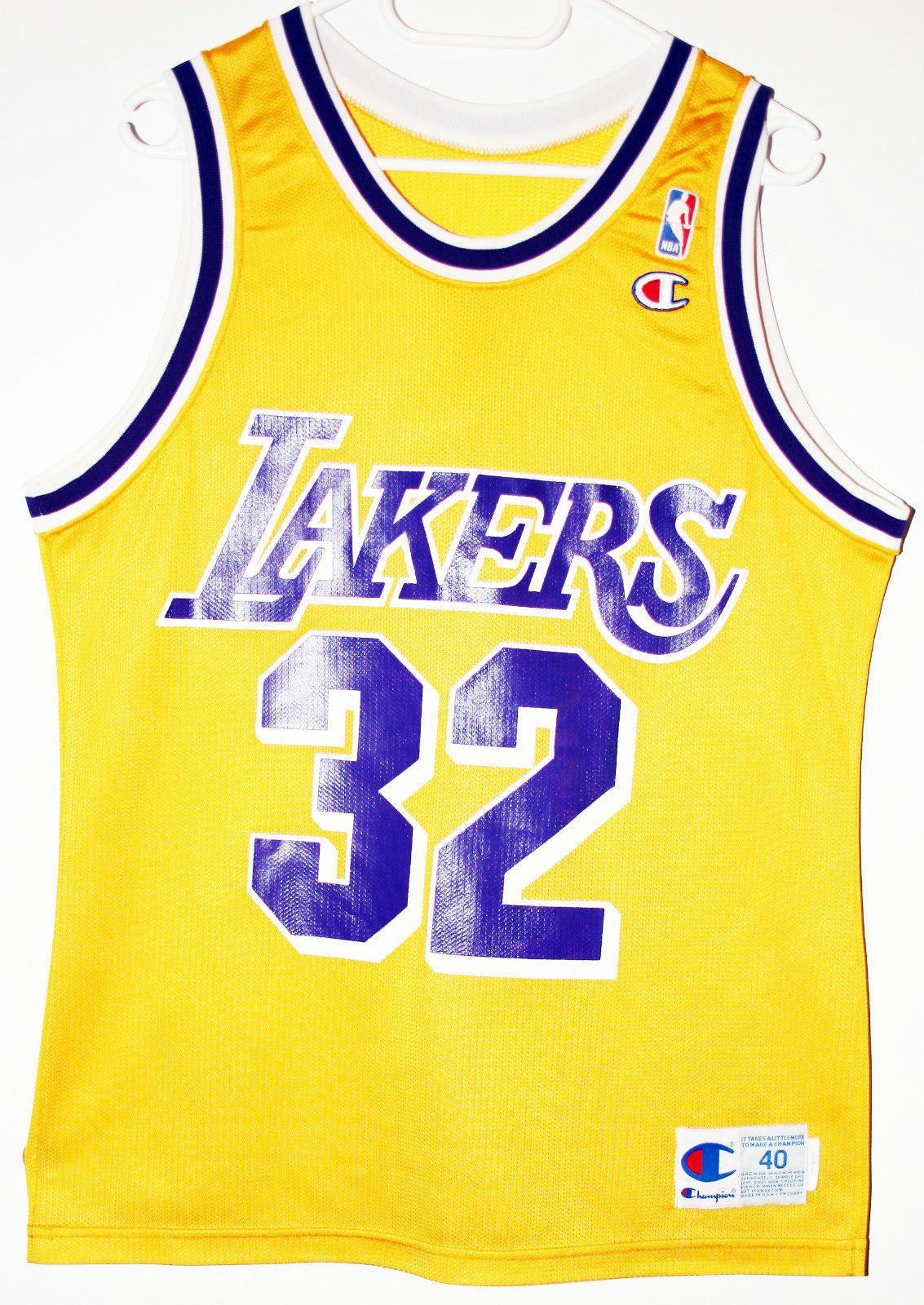 Champion NBA Basketball Los Angeles Lakers #32 Magic Johnson Trikot / Jersey  Size 40 -