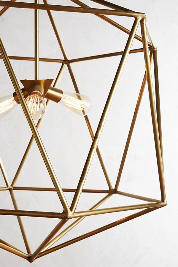 Euclidean Pendant Faceted Orb Pendant Lamp Pendants