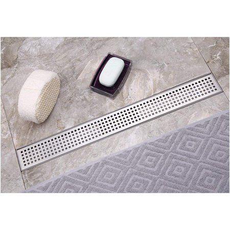 Neodrain 36 Inch Linear Shower Drain With Removable Quadrato