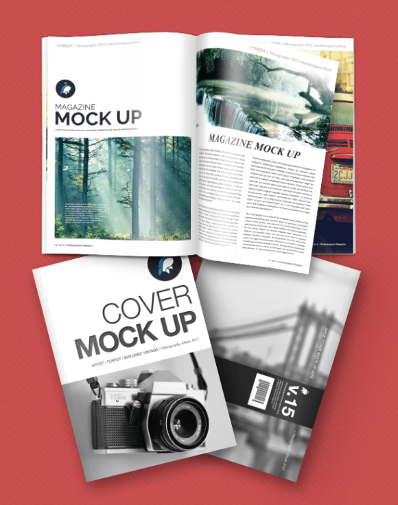 Magazine Mockup With Front And Back Cover Psd Graphibet