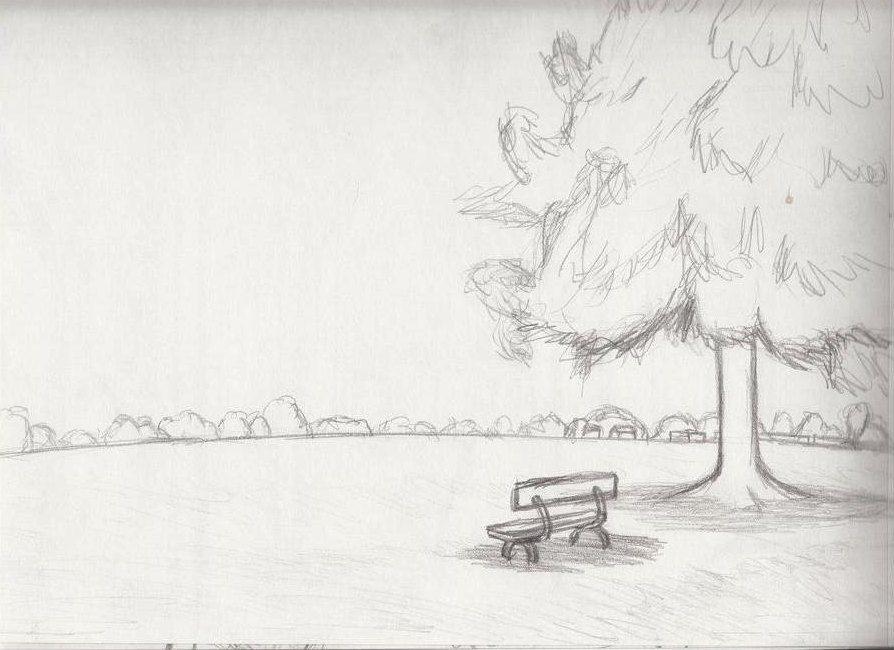 Contoh Lukisan Pemandangan Yang Mudah Ditiru Sketsa Pemandangan Lukisan Lukisan Bunga Matahari