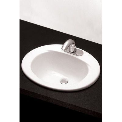 Toto Ceramic Oval Drop In Bathroom Sink With Overflow Drop In
