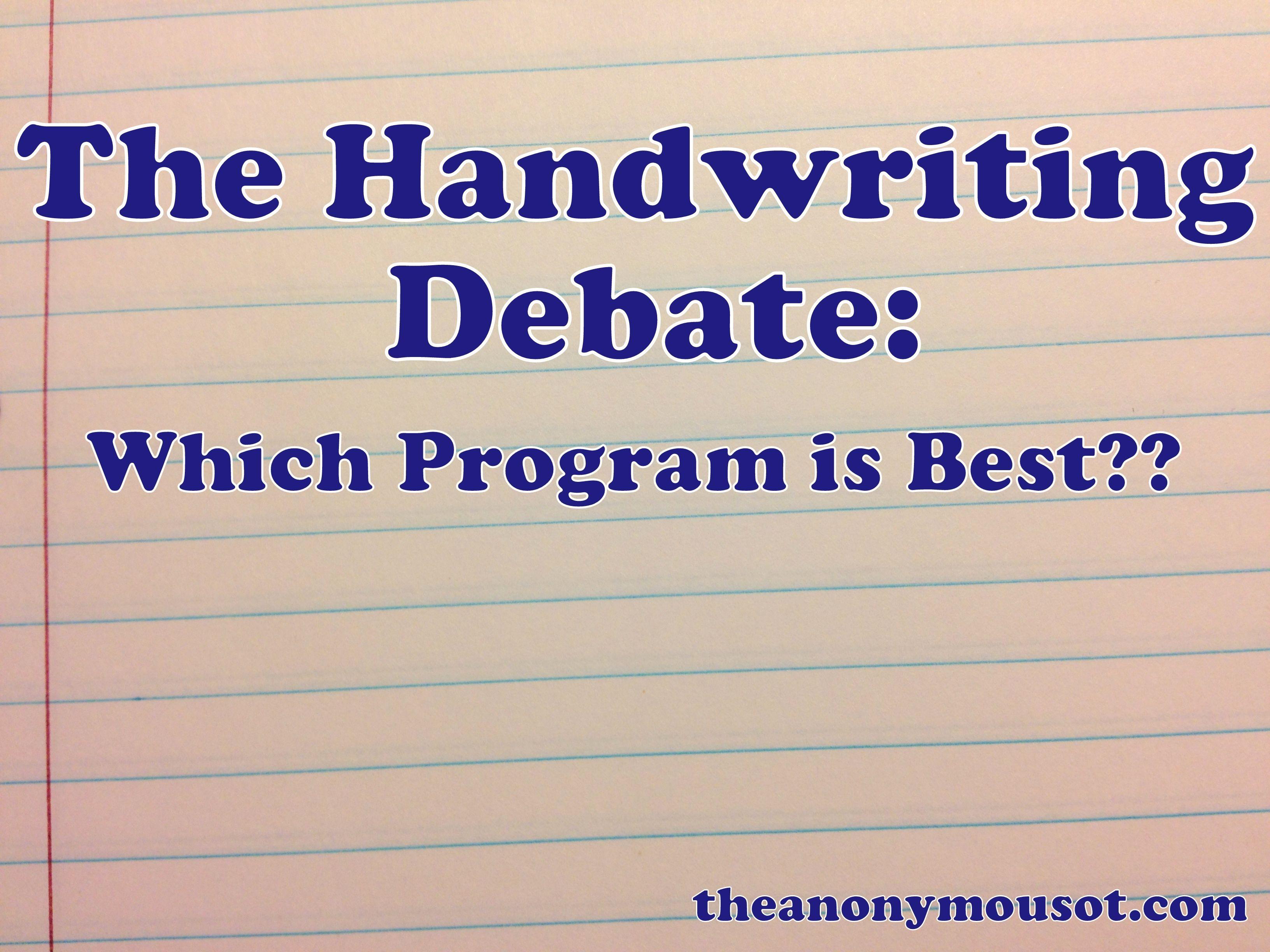 The Handwriting Debate Which Program Is Best