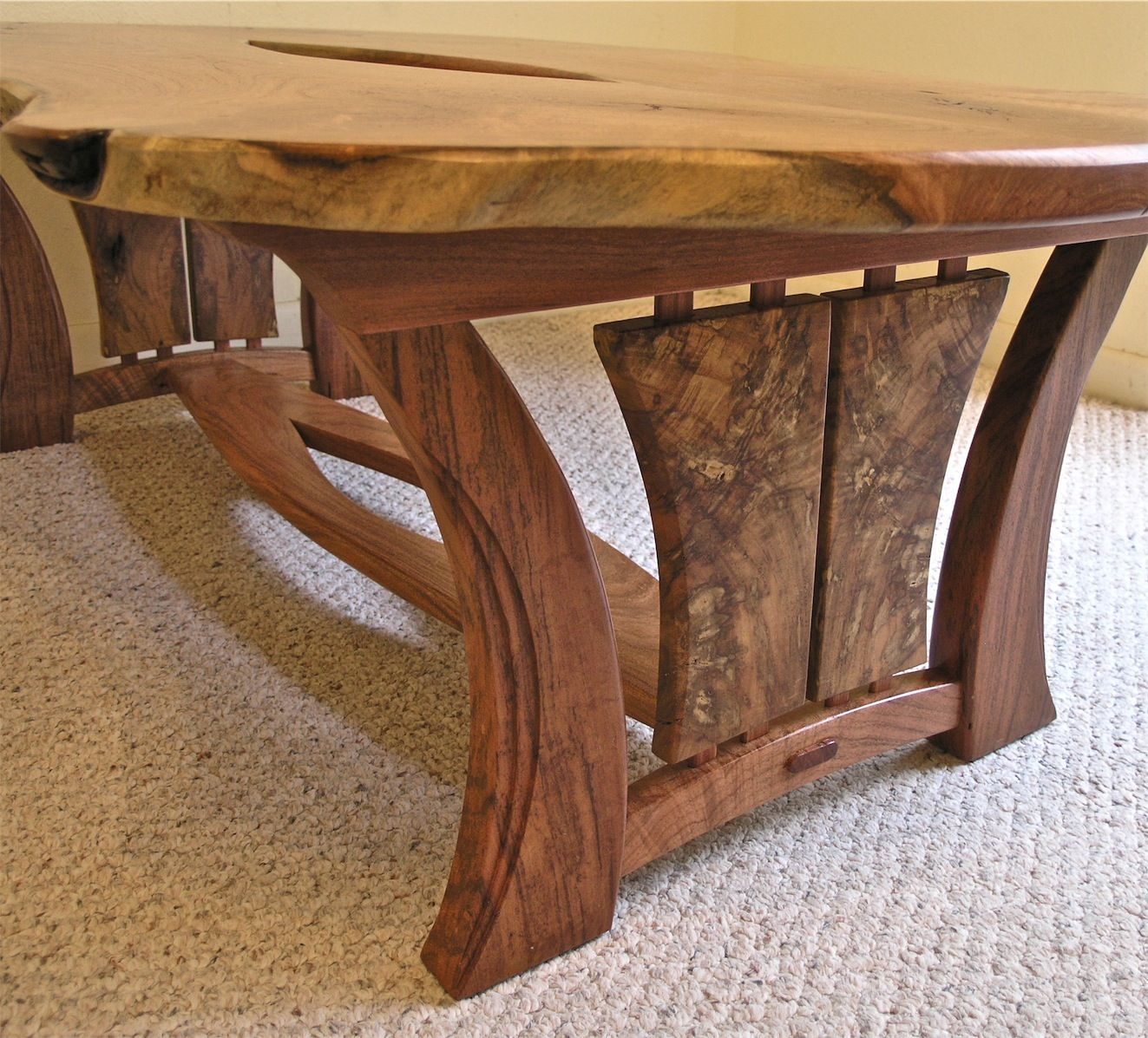 This table is my first completed piece in 2013 it is also my first live edge table where i Homemade wooden furniture