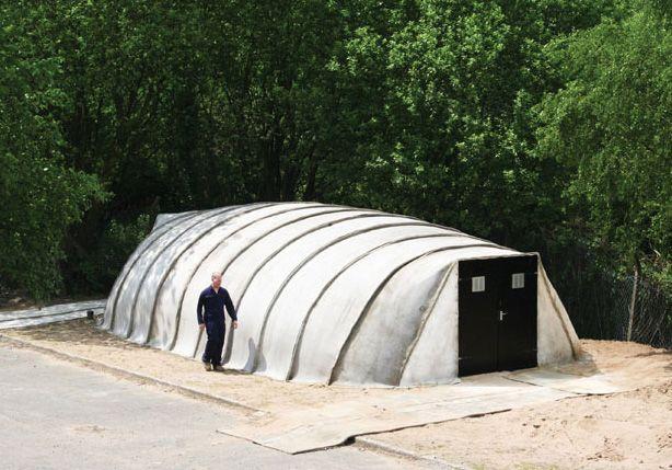 Concrete Canvas Shelter An Inflatable Concrete Building Concrete Cloth Concrete Building Concrete