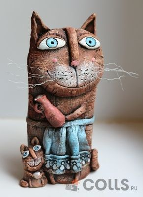 Кошка с котенком фото | Кошки, Кот, Керамические животные