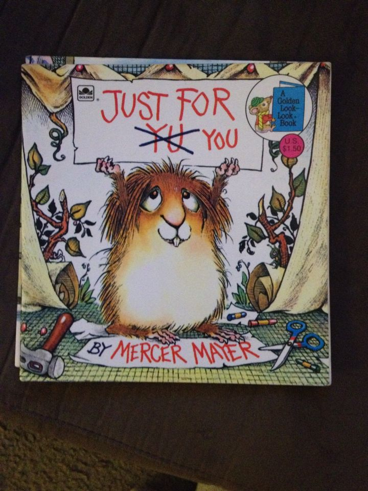 This is one of my books from child hood and one of my sons favorites. It's about little critter trying to do nice things for mom but always falling short. I love the moral that it's the thought that counts