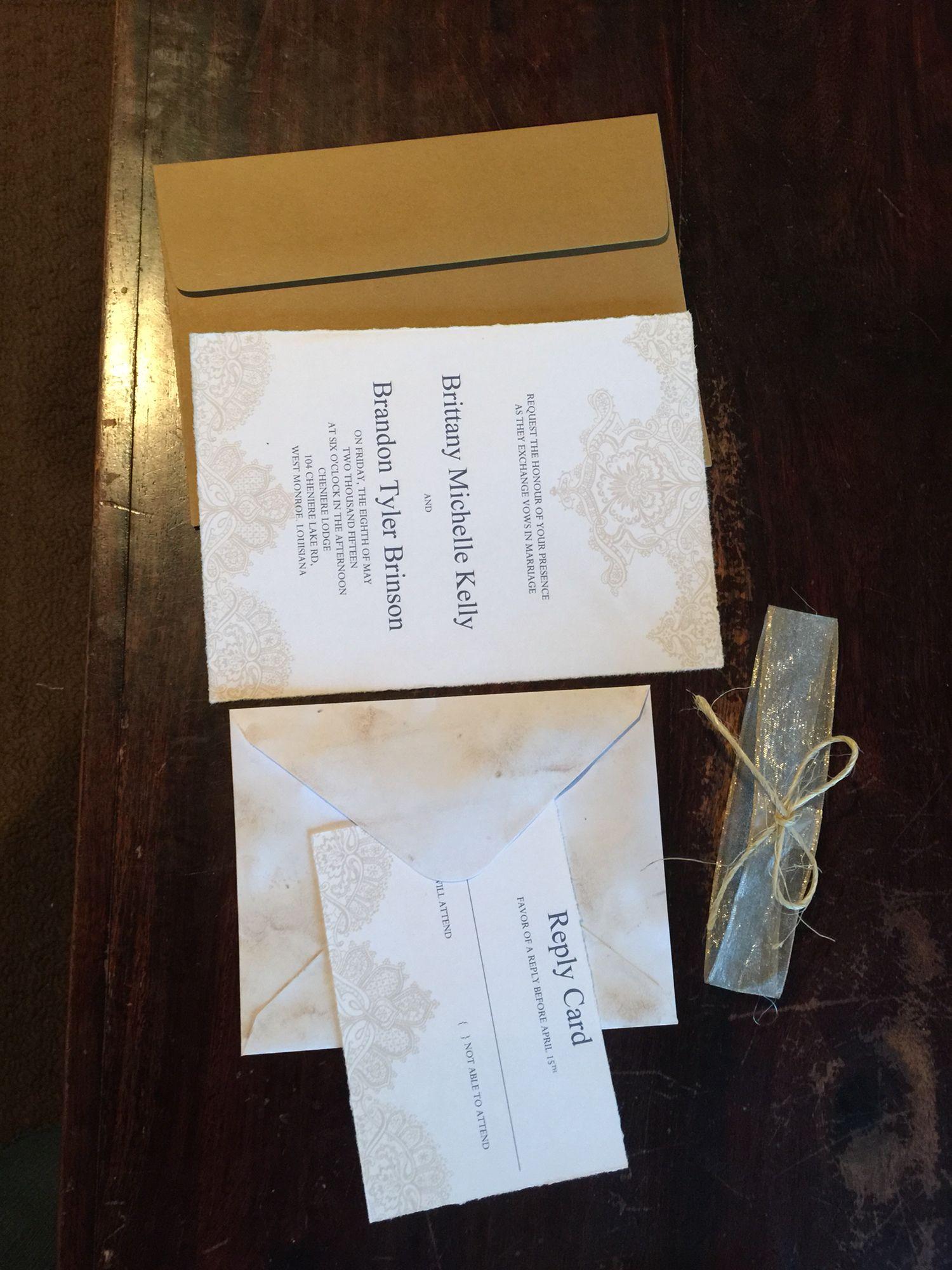 Diy rustic wedding invitations my wedding brinsonwedding