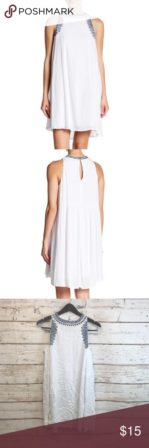 Hailey Lyn White Trim Trapeze Dress Medium Hailey Lyn New Womens Size Medium White Embroidered Trim Trapeze Dress 60 Crew N Trapeze Dress Dresses White Trim [ 1740 x 580 Pixel ]