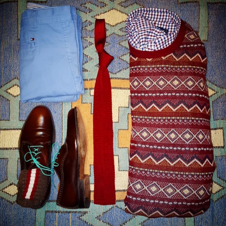 Polo tattersall oxford | Merona fair isle sweater | Lands' End ...