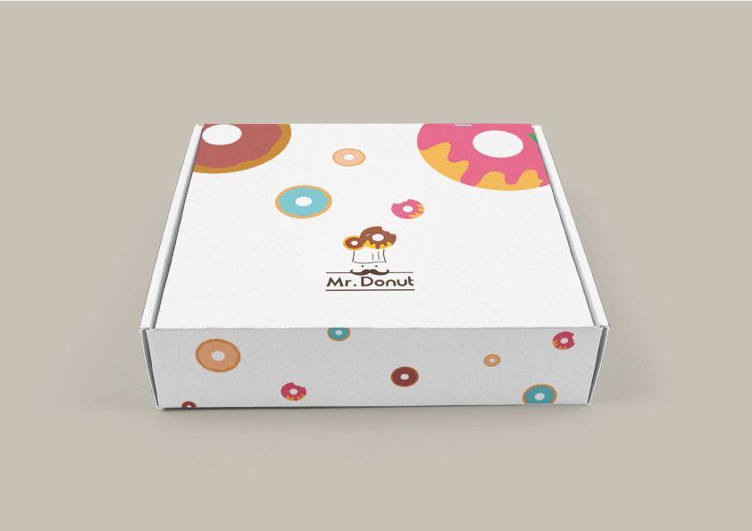 Download Mr Donut Logo Rebrand Design Redesign Flexible Design Donut Mock Up Box Package Desain Kemasan Ide Bisnis Kemasan