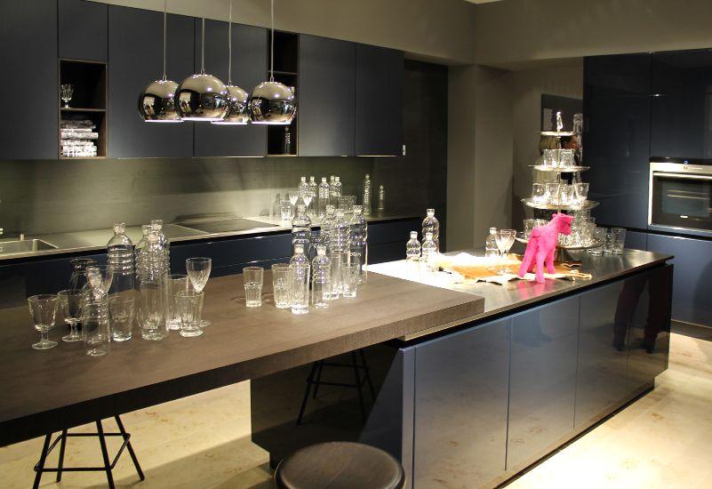 Dunkelblaue Küche Schüller Bauformat Kitchens Pinterest Kitchens - dunkelblaue kche