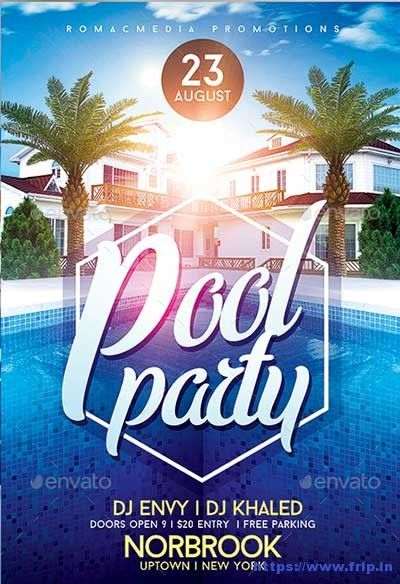Best Summer Pool Party Flyer Print Templates  HttpsWww