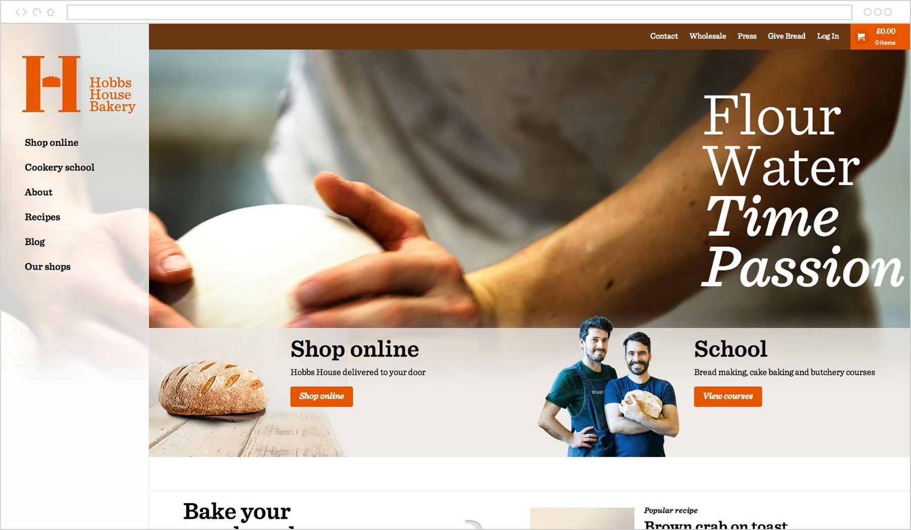 The Hobbs House Bakery website