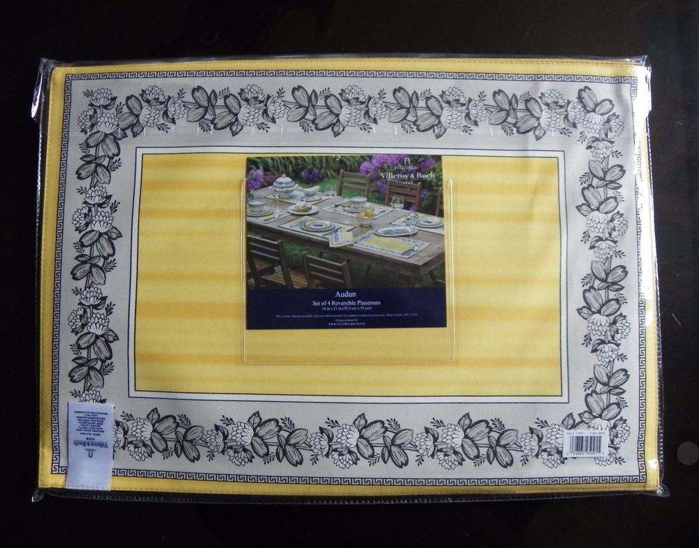 Villeroy Boch Audun Ferme Placemats Set Of 4 New Placemats Villeroy Boch Settings
