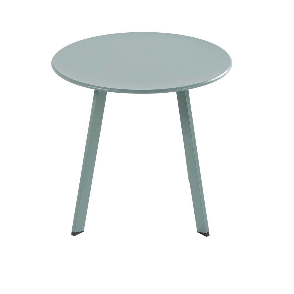 Table Basse De Jardin Ronde En Metal Vert Table Basse Jardin