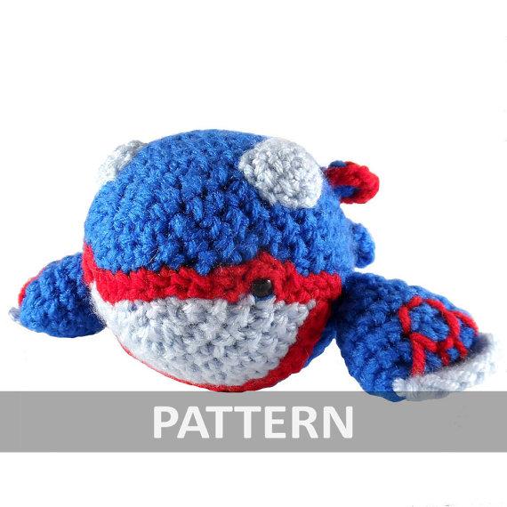 PATTERN Kyogre Amigurumi Crochet Plush PDF by icrochetthings