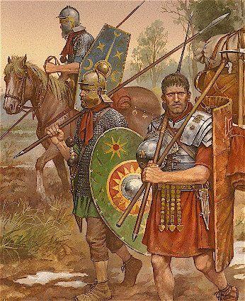 Roman legionary and cavalryman, c. 100CE