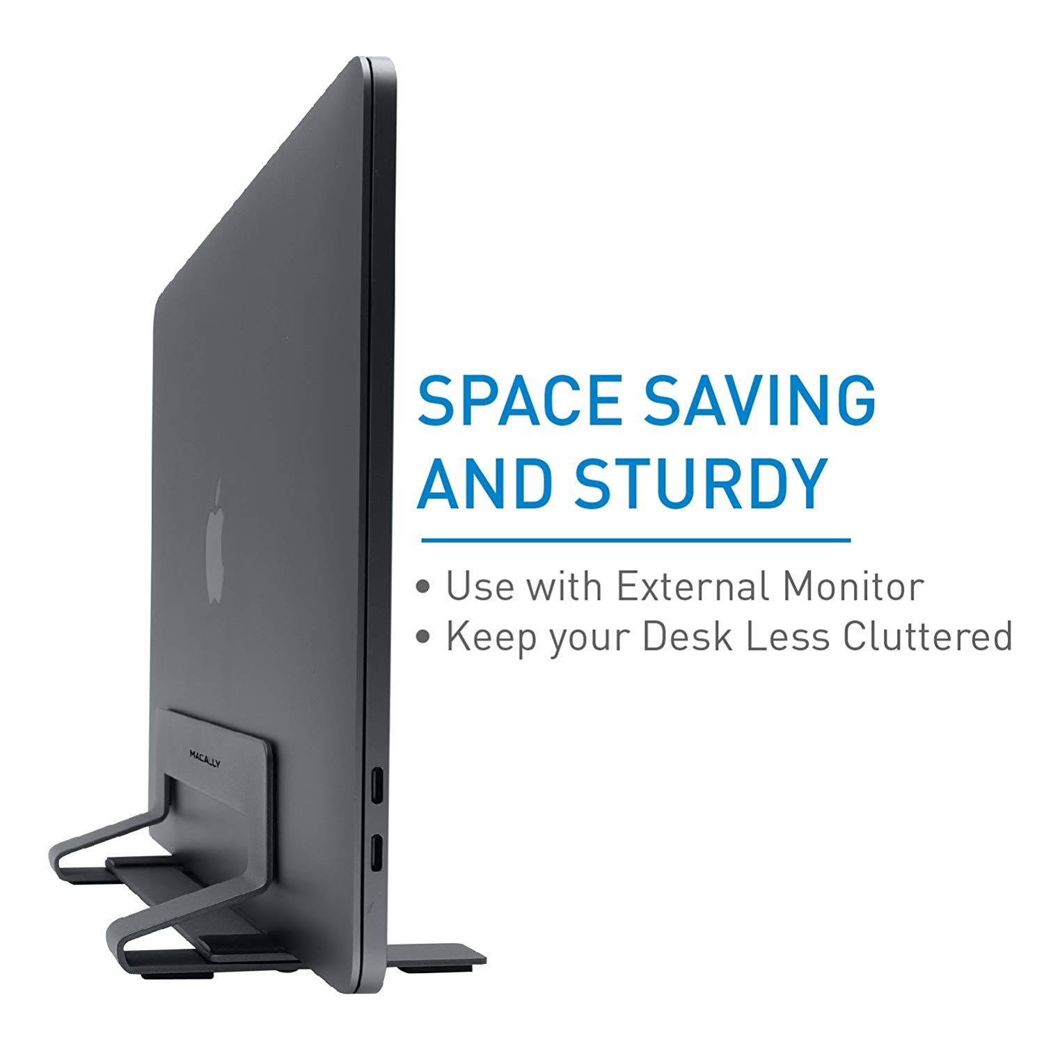 Amazon com: Macally Vertical Laptop Stand for Desk Space