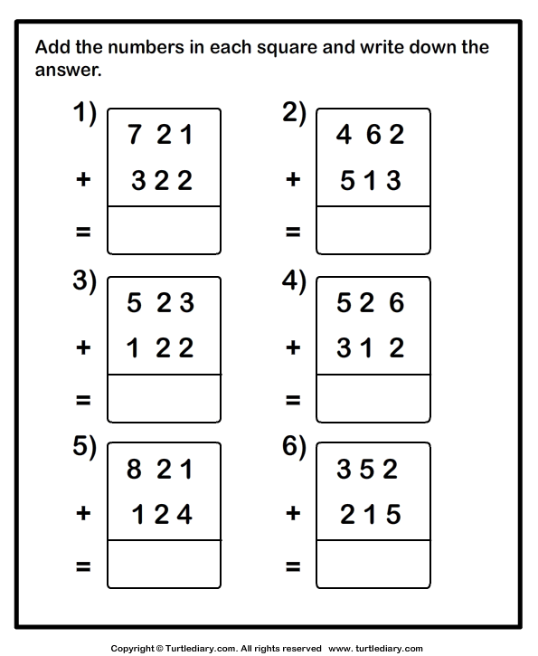 4/15/14 math review for himself.Three-digit addition - with or ...