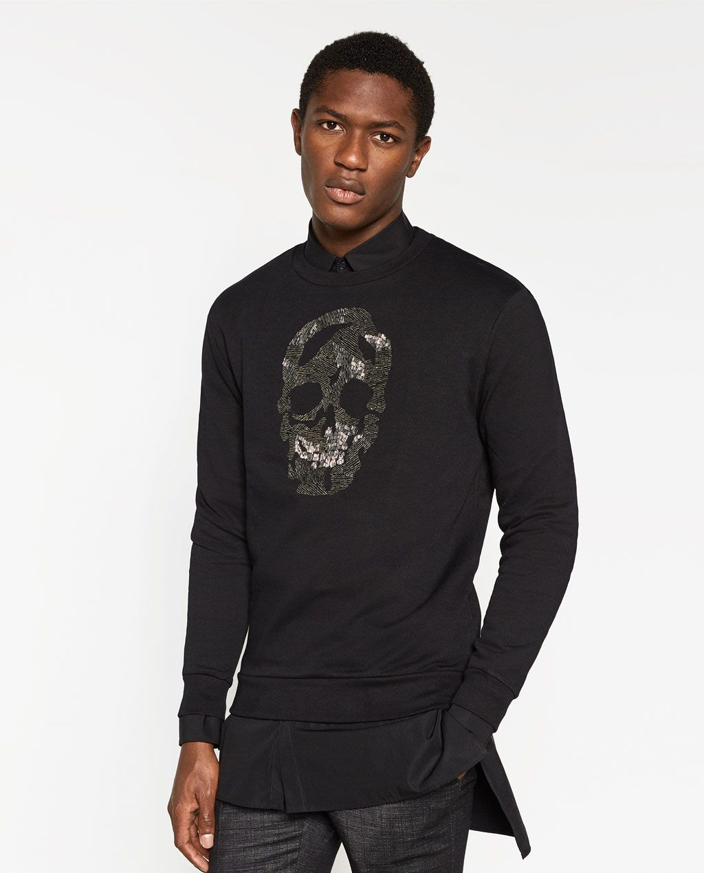 bb9a1a01 ZARA - MAN - SKULL SWEATSHIRT | Clothes and Accessories - For man